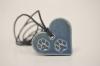 Sininen- Tassunjälki sydämessä kaulakoru