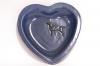 Sydän tarjoilulautanen pieni -sininen
